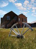 Wagon wheel at Bodie