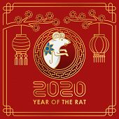2020 Chinese New Year Decorative Elements. Happy Chinese New Year 2020, New Year, Chinese New Year 2 poster