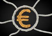 futuristic euro symbol