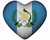 Heart With Flag Of Guatemala