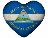 Heart With Flag Of Nicaragua