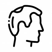 Balding Man Profile Icon Vector. Outline Balding Man Profile Sign. Isolated Contour Symbol Illustrat poster