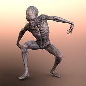 3D Rendering Fantasy Alien poster