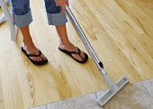 Vacuuming Wood Floor