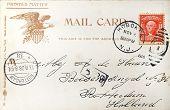 Vintage postal americano de 1908