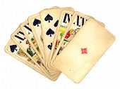 Vintage Hand Of Cards