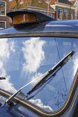 Постер, плакат: Винтажные стеклоочистителя Деталь стеклоочиститель на классических автомобилей