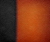Black and brown leather background. Vector illustration.