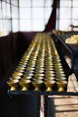 Row Butter Lamp Storage Room Rumtek Monastery