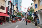Singapore Chinatown Street Scene