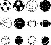 Collection Of Sports Balls
