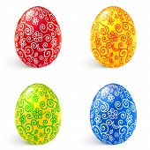 picture of pasqua  - Ornate vector traditional Easter eggs set - JPG