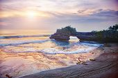 Pura Batu Bolong - small hindu temple near Tanah Lot, Bali, Indonesia