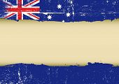 Australian scratched flag. An australian flag with a large frame for your message