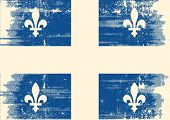 Quebec grunge flag.  A grunge flag of Quebec with a texture