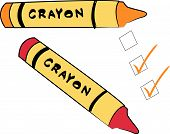Crayons With To Do Checks.