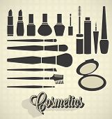 Kosmetik-Silhouetten