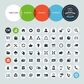 stock photo of chart  - Set of icons for business - JPG