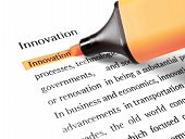 The Word 'innovation' Highlighted
