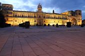 stock photo of parador  - Night Shot of the To Parador de Leon - JPG