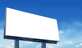 picture of more info  - Blank billboard against blue sky for more billboard visit our portfolio - JPG