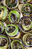 Baking Eggplant And Zucchini With Hemp Seed