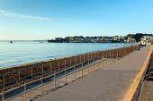 Paignton beach Torbay Devon England near tourist destinations of Torquay and Brixham
