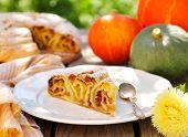 A Piece Of Pumpkin Vertuta,  Traditional Moldavian And Romanian Snail-shaped Pie
