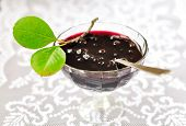 image of chokeberry  - Chokeberry and Plum Jam in a Bowl - JPG