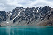 Wonderful alpine lake Ala-Kul, Kyrgyzstan