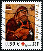 Postage Stamp France 2004 Virgin With Child, Painting