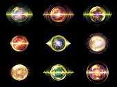 pic of orbs  - Wave Particle series - JPG
