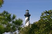 Hatteras Light Over The Trees