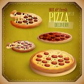 Hot and Fresh Pizza Delivery | EPS10 Vector Set