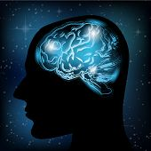 Vector creative brain