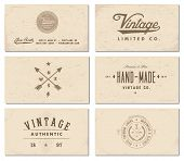 Vector vintage business card set.