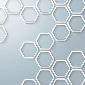 White Hexagons Honeycomb Infographic