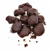 Candies Of Dried Plum In Dark Chocolate
