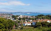 View of Torquay coast and bay Devon England from Paignton