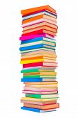 Colorful Stacked Books