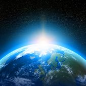 image of planet earth  - Creative abstract global communication scientific concept - JPG