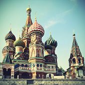 Cathedral of St. Basil's the Blessed in Moscow, Russia