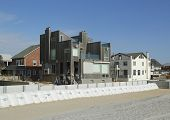 Damaged beach house in devastated area one year after Hurricane Sandy