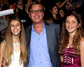 LOS ANGELES - NOV 18:  daughter, Aaron Sorkin, friend at the The Hunger Games:  Catching Fire Premie