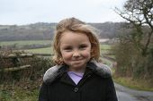 Cheeky Looking Girl On Country Walk