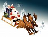 Magic Santa Claus sleigh