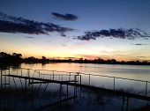 Sunset on a Cotton Farm Weir
