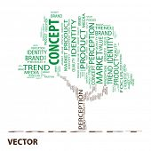 Vector eps concept or conceptual concept green tree word cloud on white  background wordcloud