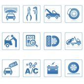 stock photo of wreckers  - A set of web icons with light reflections - JPG