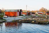 Boathouses On Rock